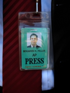 Ben, via his press badge