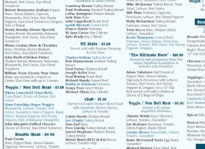 Fraser Street Deli menu