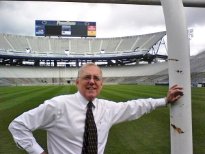Uh Bob, can you get some touch-up paint on that goal post before Thursday?