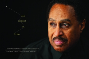 The opening spread of The Penn Stater's July/August feature about Ronald Mallett.