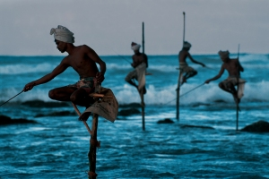 This 1995 image of fishermen along the Sri Lankan coast is also included in the exhibition at the Palmer. © Steve McCurry, courtesy George Eastman House