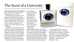 Scent of a University