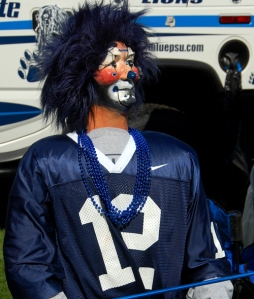 The blue-haired ventriloquist-type mannequin is new this year.