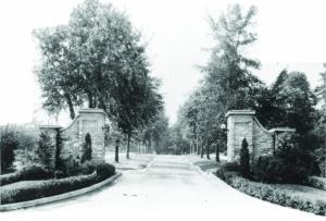The Allen Street Gates, when Allen Street continued through campus.
