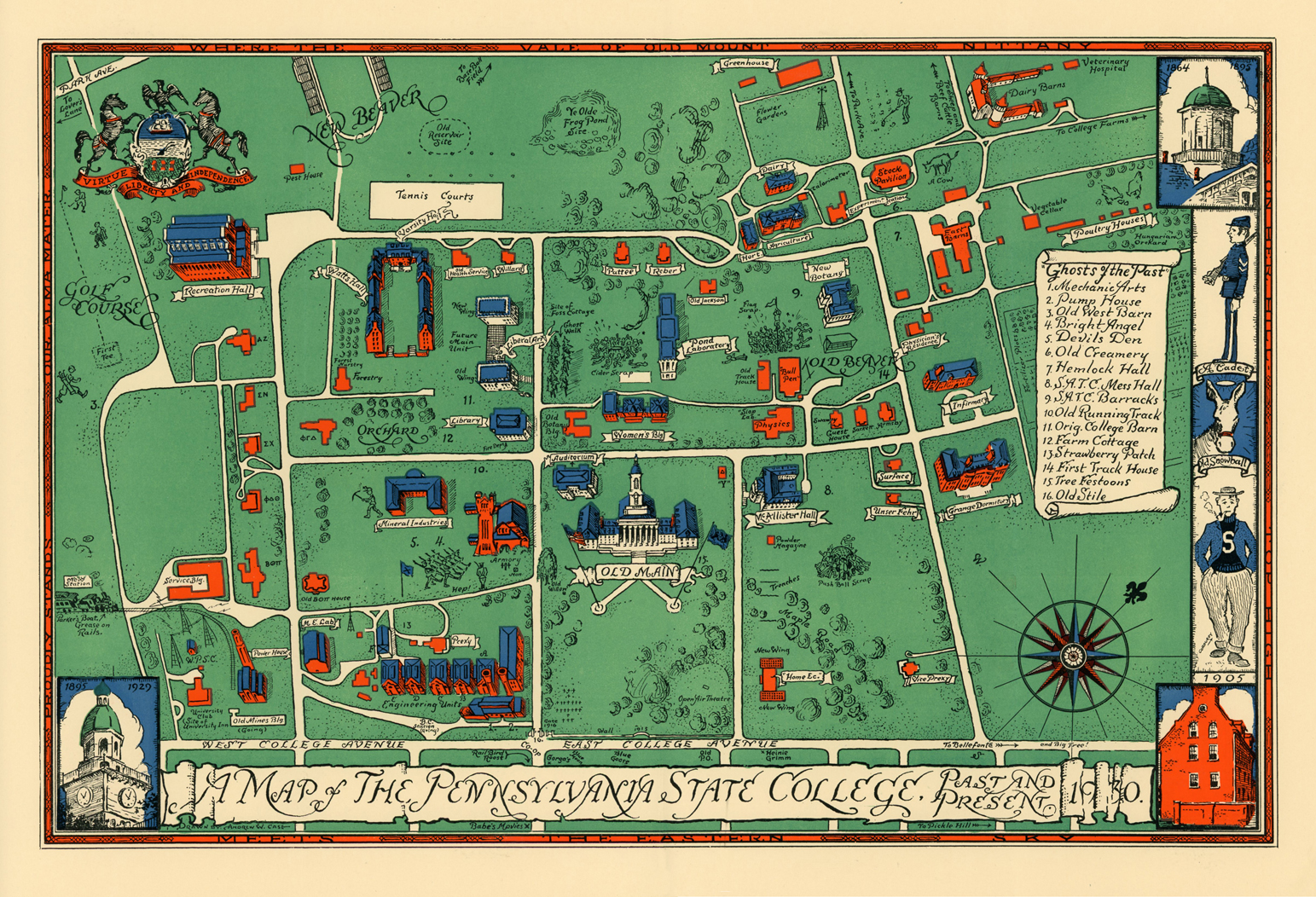 A Cool 1930 Map Of Penn State The Penn Stater Magazine