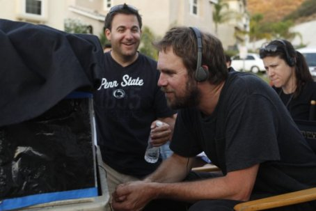 That's Bradley Gallo (in the Penn State t-shirt, of course) with director Brad Anderson on the set.