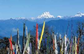 Prayer flags at Dochula Pass.