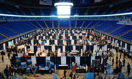 The view from above at Fall Career Days.