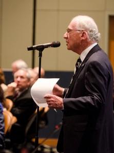 Robert Jubelirer speaks during Friday's public comment session.