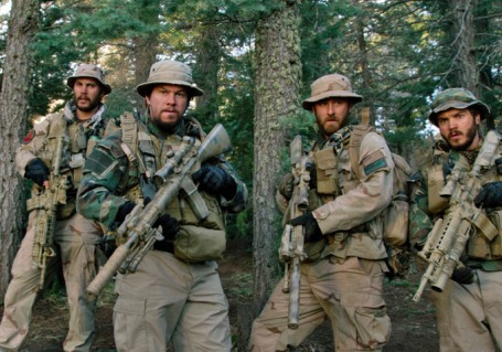 Taylor Kitsch (far left) as Lt. Michael Murphy. Photo via imdb.com.