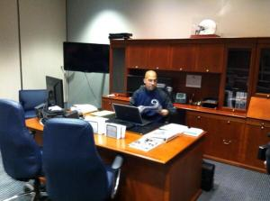 James Franklin, on the job at 5:07 a.m.