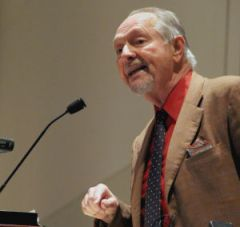 Bob Zellner at the Penn State Forum Speaker Series. Courtesy of The Daily Collegian.