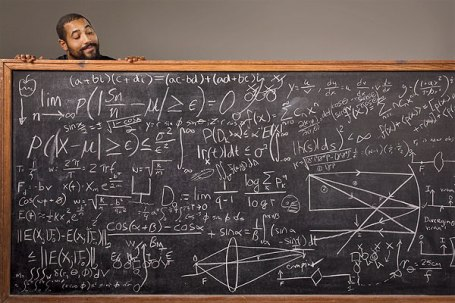 John Urschel does the math for ESPN The Magazine. Photo by Gregg Segal/ESPN.