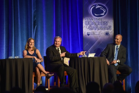 Futbol or football? Walsh, Warming and Franklin find common ground at the Coaches Caravan.