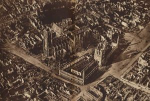 The ruins of Ypres, Belgium, after the war. Image courtesy Great War Primary Document Archive: www.gwpda.org/photos