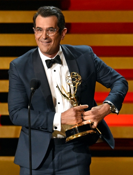 Ty Burrell nabs his second Emmy. Photo: Kevin Winter/Getty Images