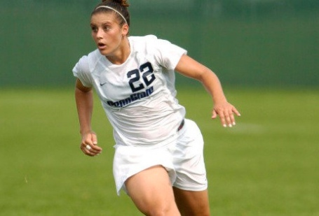 Krieger during her playing days at Penn State.