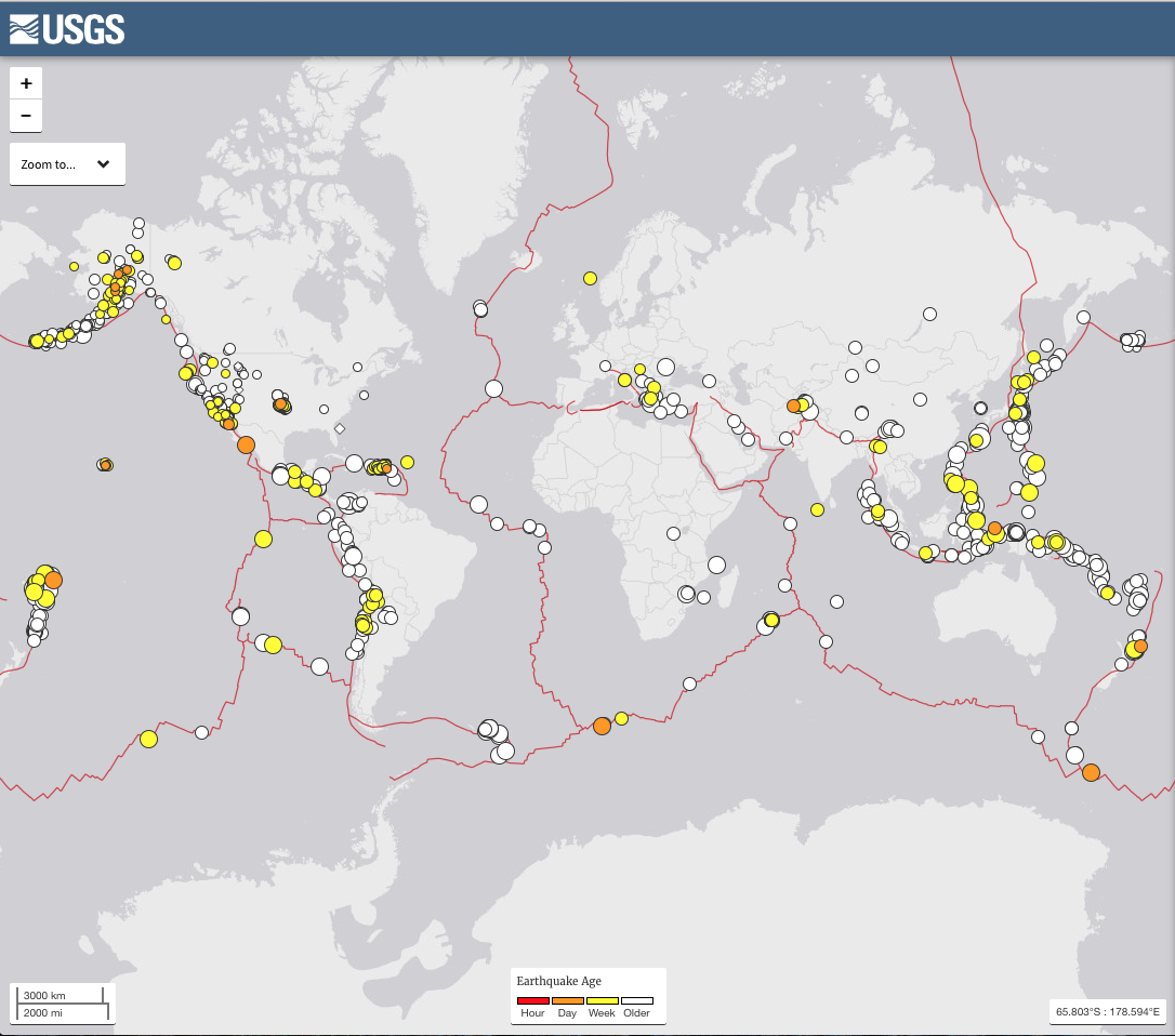 What i learned about earthquakes on my lunch hour the penn stater usgs world earthquake map gumiabroncs Choice Image